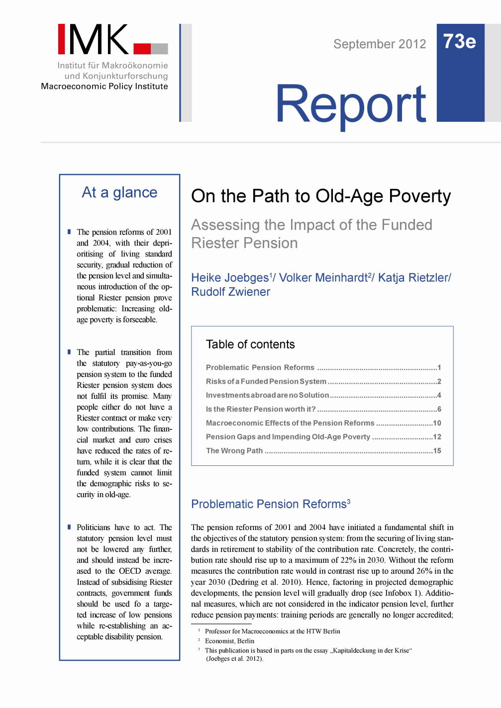 On the Path to Old-Age Poverty