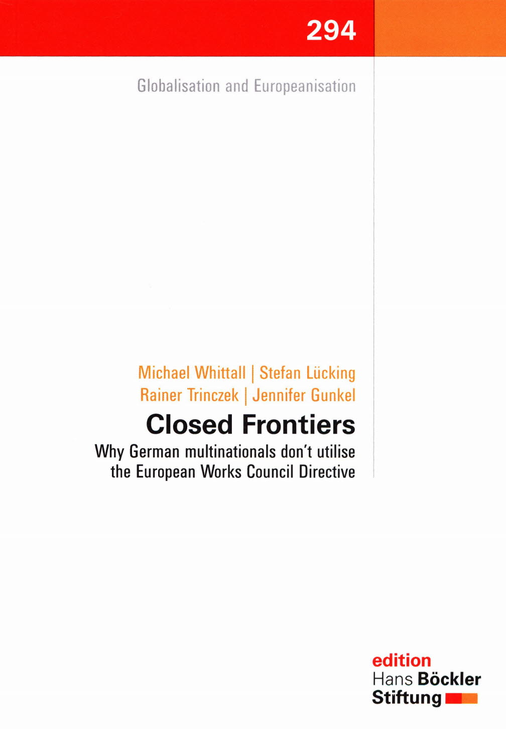 Closed Frontiers