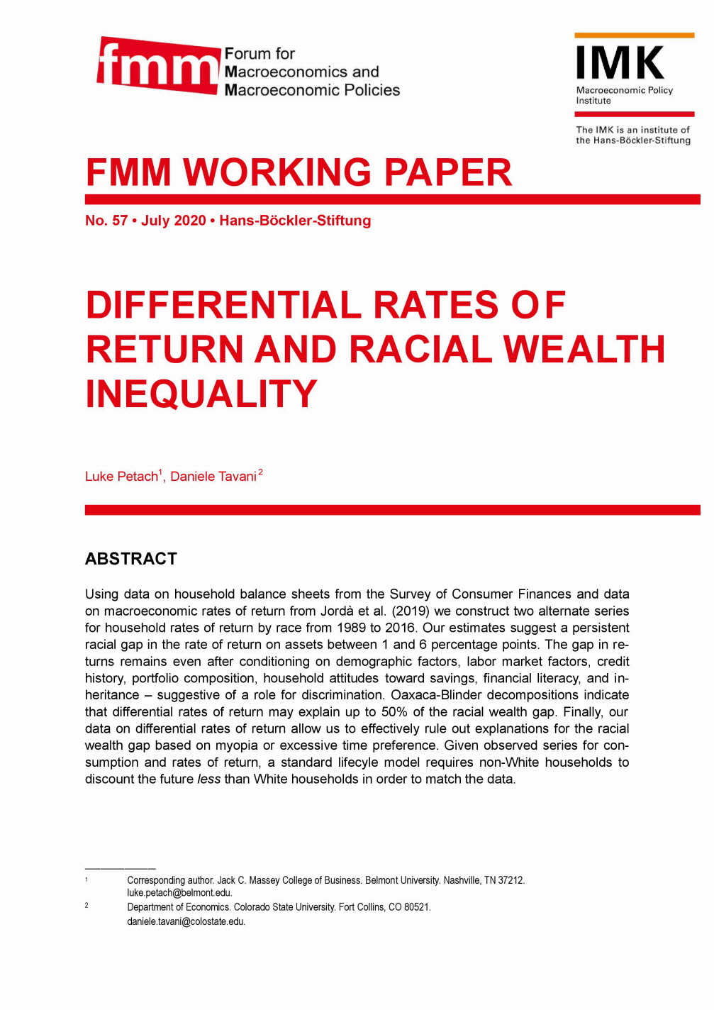 Differential rates of return and racial wealth inequality