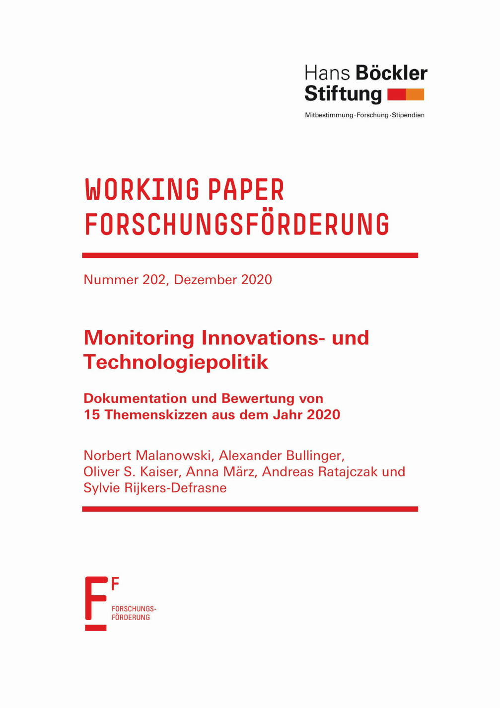 Monitoring Innovations- und Technologiepolitik
