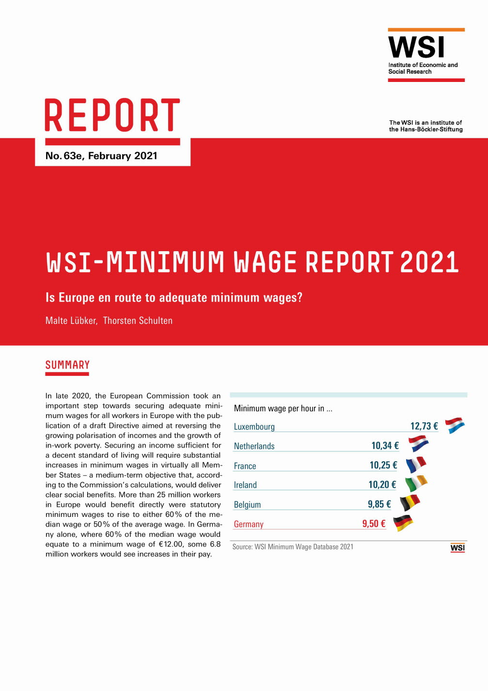 WSI-Minimum wage report 2021