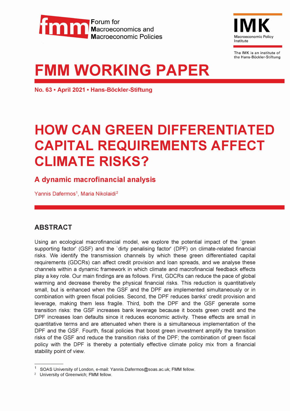 How can green differentiated capital requirements affect climate risks?